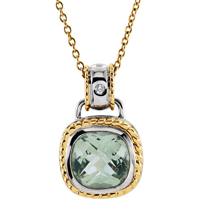 "> Necklace > 18"" > Diamond > CTW > .White & Yellow > Green > White & Yellow > 14kt"