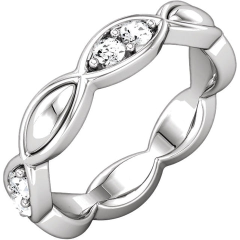 Band > Eternity > Sculptural-Inspired > Diamond > 1/3 CTW
