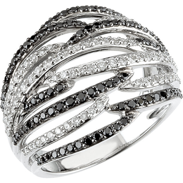 Ring > Diamond > Black & White > CTW > 1