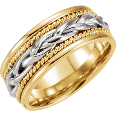 Band > Hand-Woven > 8mm > Two-Tone > 14kt