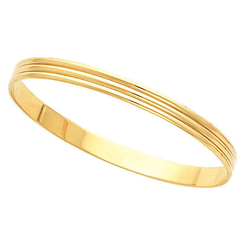 > Bracelet > Bangle > Grooved > 6mm