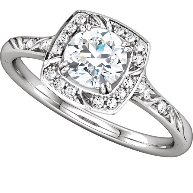 Ring > Engagement > Diamond > CTW > 1/Zirconia & 1 > Cubic > 5.75mm