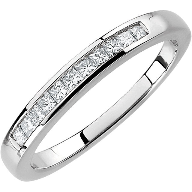 Band > Anniversary > Diamond > Princess-Cut.*Multiple Diamond Cuts and Weights available*