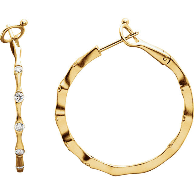 Earrings > Hoop > Inside/Outside > Diamond > 1/2 CTW