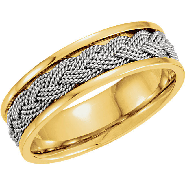 Band > Hand-Woven > 7mm > Two-Tone > 14kt