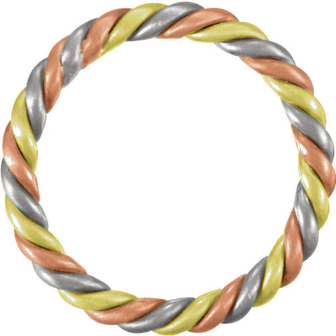 .5 > Band > Tri-Color > 2.5mm > Rose & Green > , > White > 14kt
