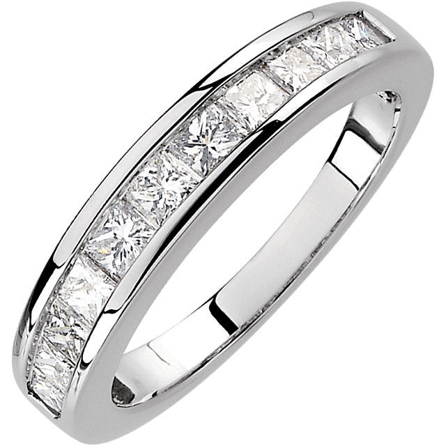 Band > Anniversary > Diamond > Princess-Cut > CTW > 1.*Multiple Diamond Cuts and Weights available*