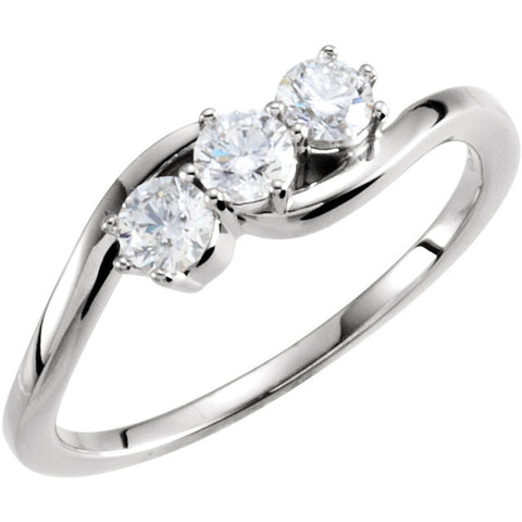 Ring > 3-Stone > Diamond > 1/2 CTW.*Multiple Diamond Cuts and Weights available*