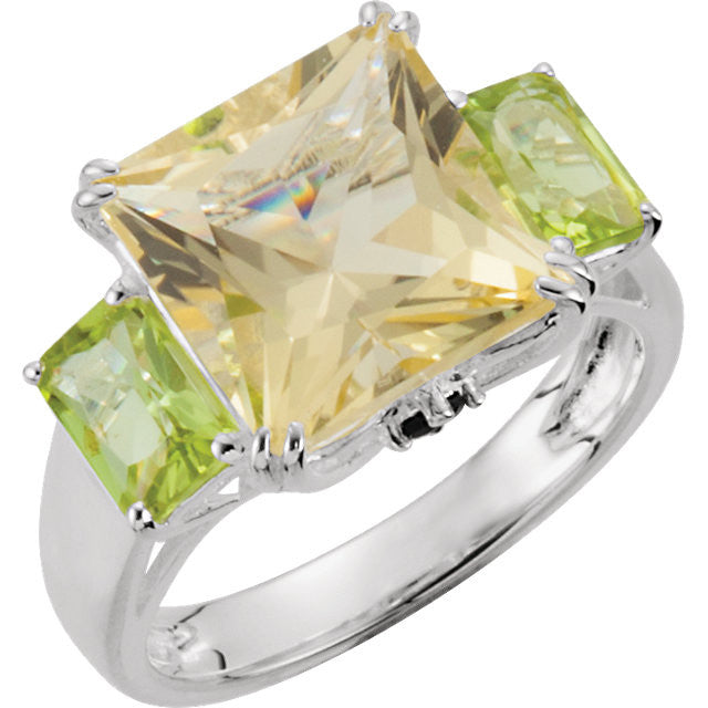 Ring > Diopside > Peridot & Chrome > Quartz, > Lime > Genuine