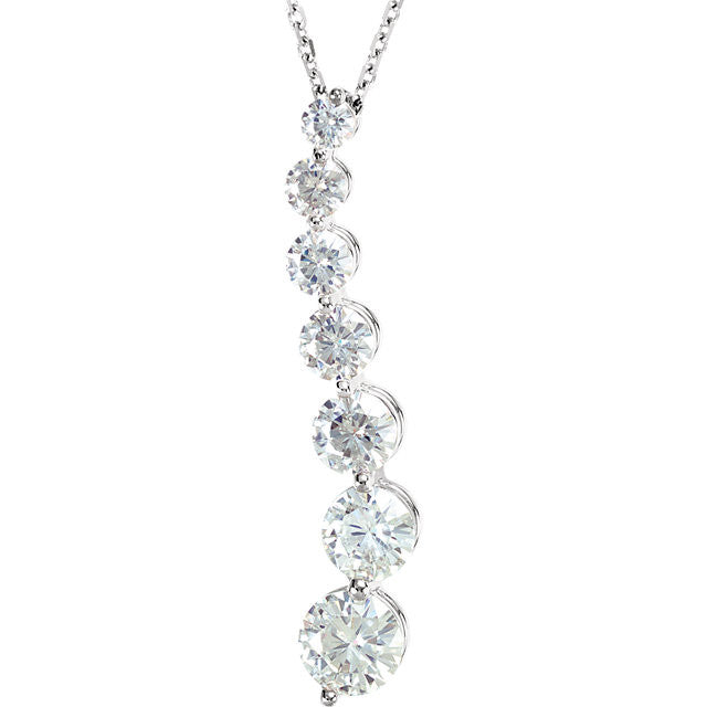 Necklace > Journey > Moissanite > Created