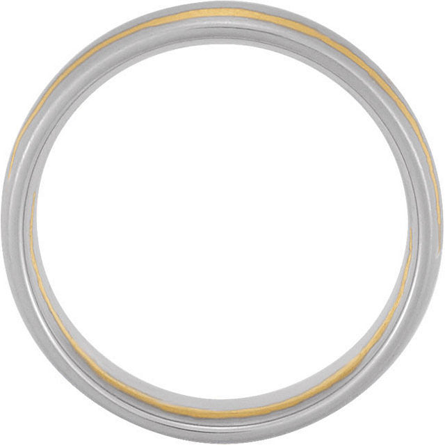 Band > Comfort-Fit > 7mm > White & Yellow > 14kt