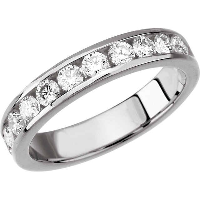 Band > Anniversary > Stone > 11 > Diamond > 3/4 CTW.*Multiple Diamond Cuts and Weights available*