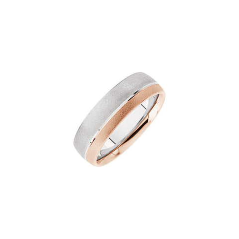 .5 > Band > Duo > Design > 7mm > White & Rose > 14kt