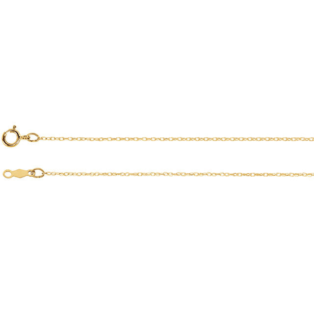 "Chain > 16"" > Rope > Gold™ > Titan > Lasered > .75mm"