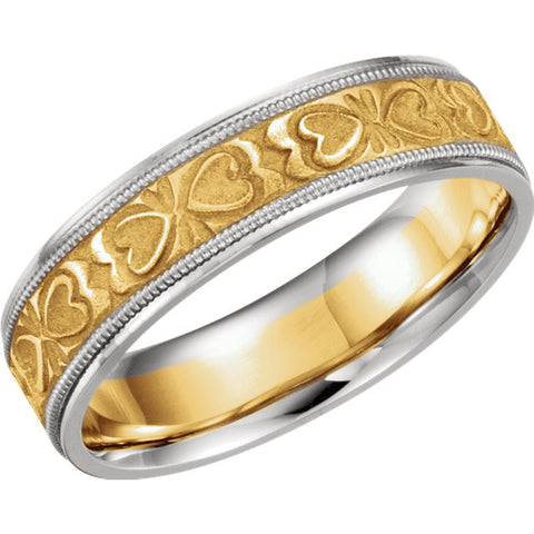 .5 > Band > Pattern > Heart > 6mm > Two-Tone > 14kt