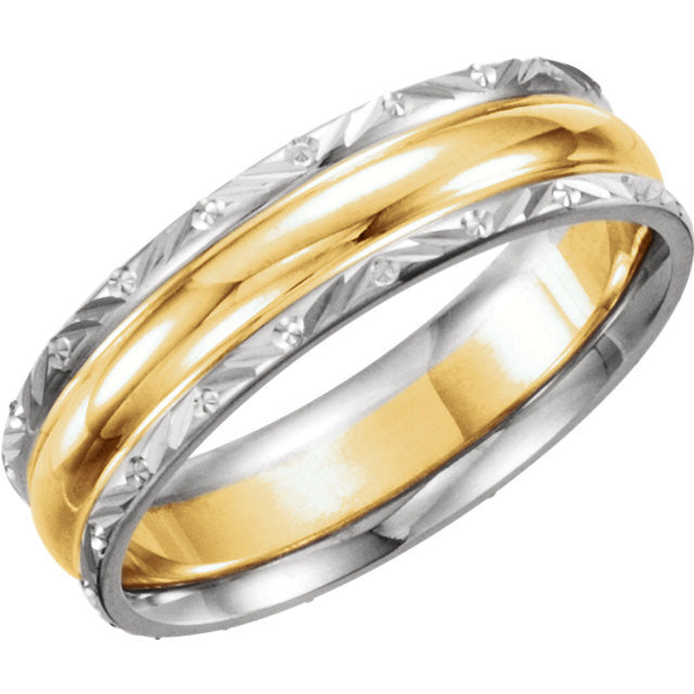 .5 > Band > Design > 6mm > Two-Tone > 14kt