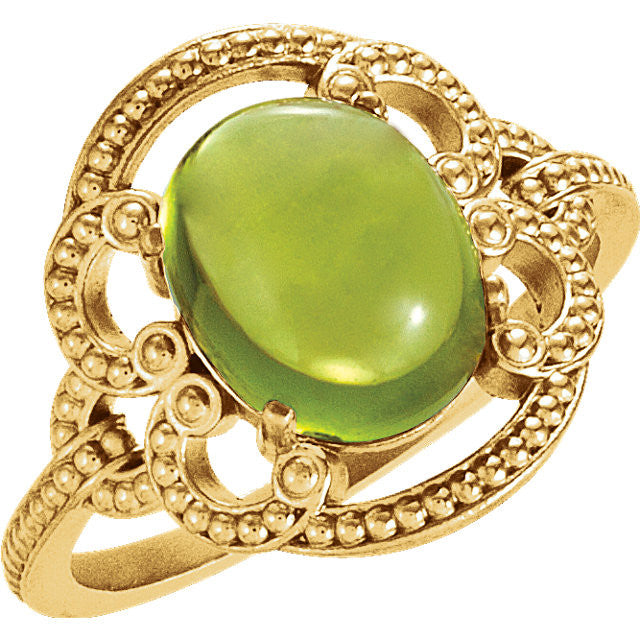Ring > Peridot > Design > Granulated