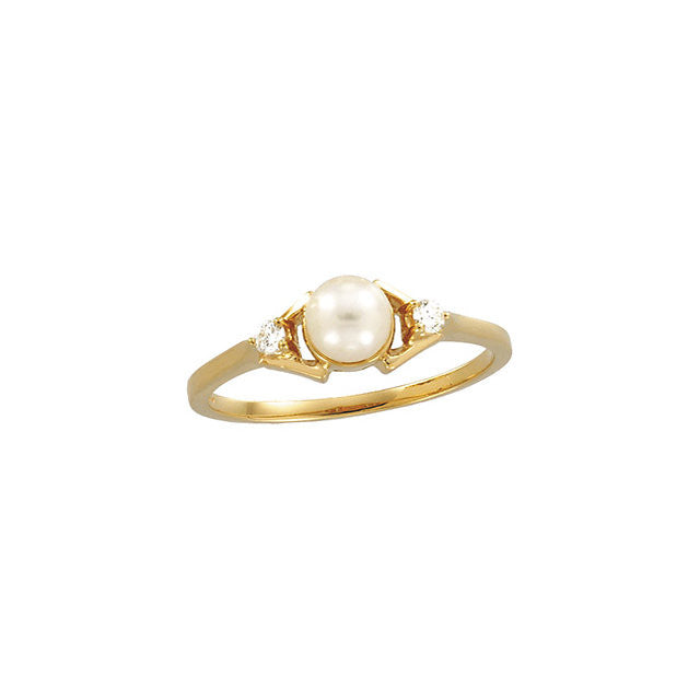 Ring > Pearl & Diamond > Cultured > Akoya