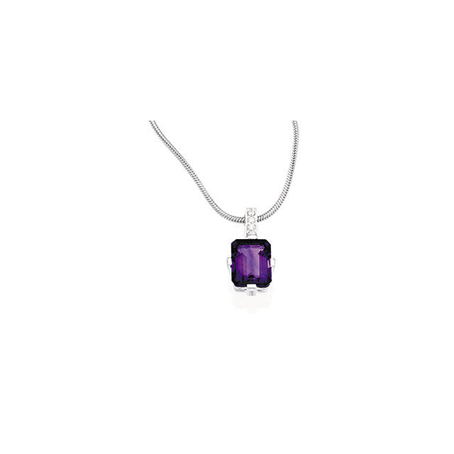 Necklace > Zirconia > Amethyst & Cubic > Genuine