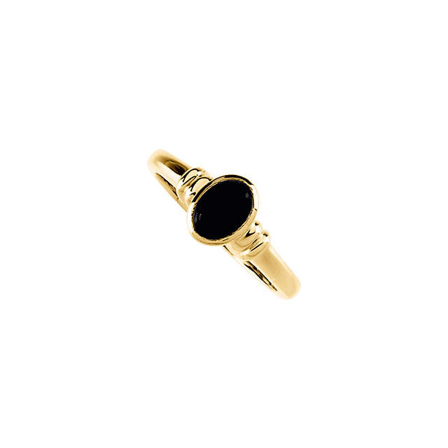 Ring > Cabochon > Onyx > Genuine