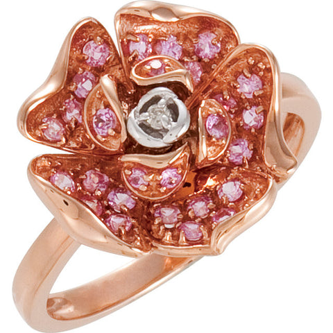 Ring > Diamond > CTW > 1/Rose & White > Pink > Rose & White > 14kt
