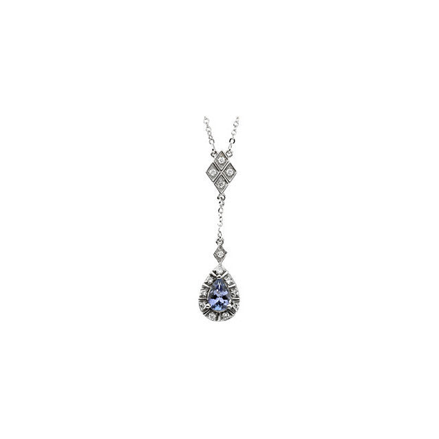 Necklace > Tanzanite & Diamond > Genuine