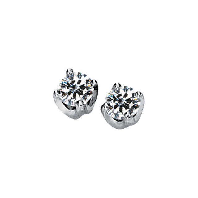 Earrings > Solitaire > Solstice > Moissanite > Created