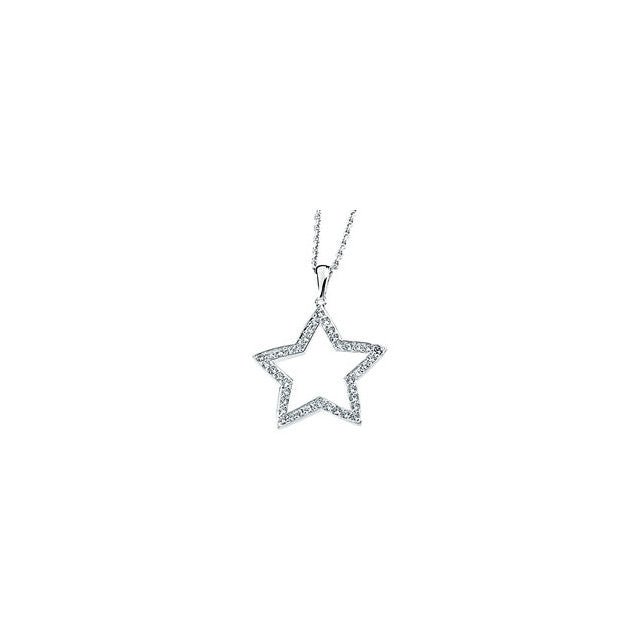"Necklace > 18"" > Star > Zirconia > Cubic"