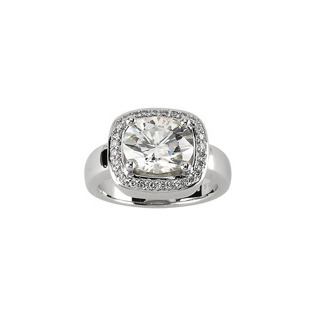 Ring > Diamond > and > Moissanite > Created