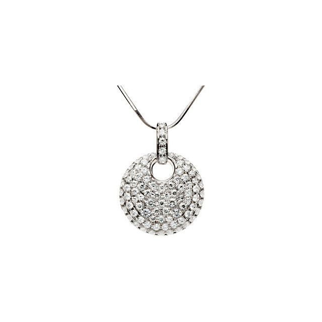 Necklace > Pave' > Moissanite > 5/8 CTW > 2