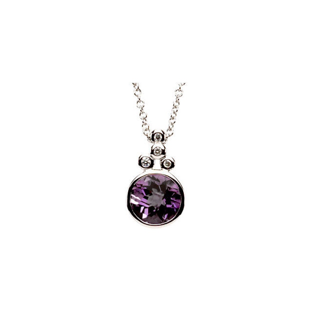 Necklace > Diamond > .04 CTW > Amethyst