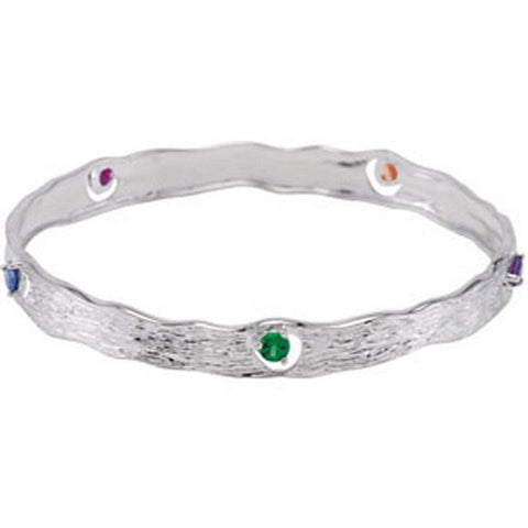 Bracelet > Bangle > Multi-gemstone