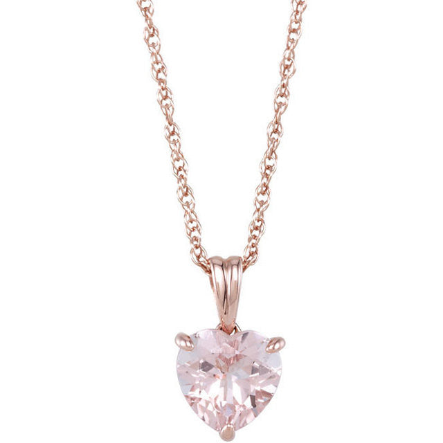 "Necklace > 18"" > Morganite"