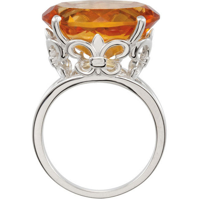 Ring > Citrine > Genuine