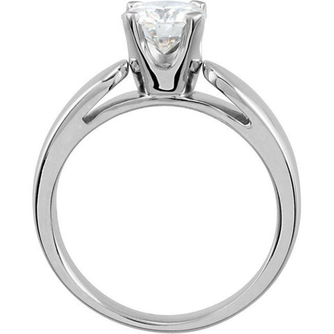 Solitaire > Cathedral > Moissanite > Created