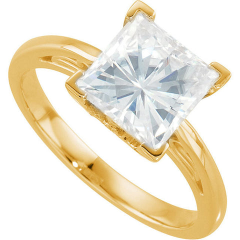 Solitaire > Princess > Moissanite > Created