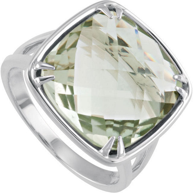 Ring > Quartz > Green > Checkerboard > Sided > Double > 14mm