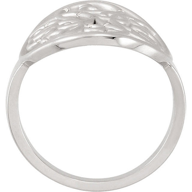 Ring > Scroll > Diamond > .06 CTW