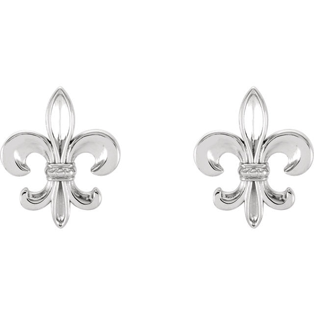 > Earrings > Fleur-De-Lis