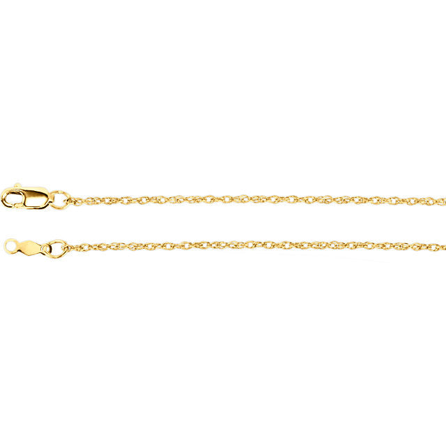 "Chain > 18"" > Rope > Gold™ > Titan > Lasered > 1.25mm"