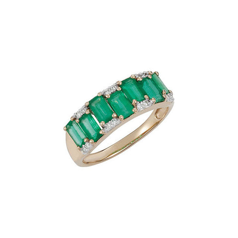 Ring > Diamond > .07 CTW > & > Emerald