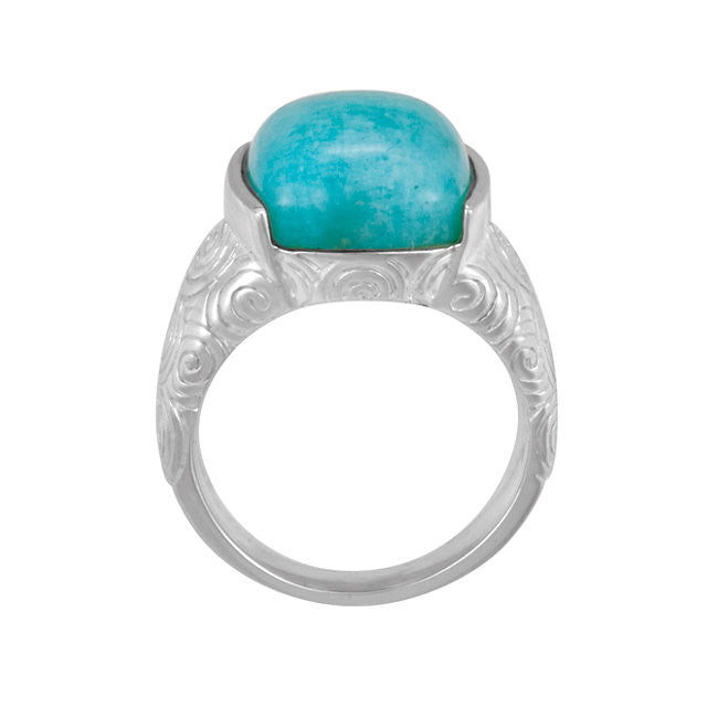 Ring > Amazonite > Genuine