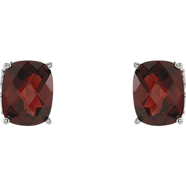 Earrings > Garnet > Mozambique > Genuine