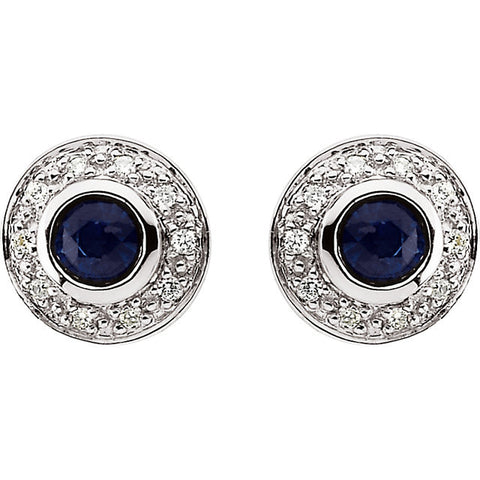 Earrings > Diamond > CTW > 1/Sapphire & 1 > Round > 3.5mm