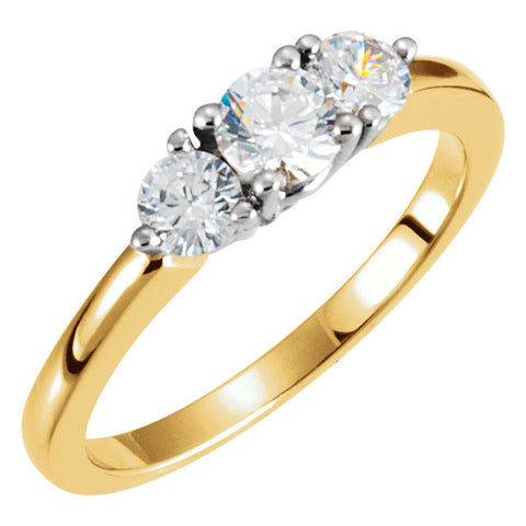 Ring > Anniversary > 3-Stone > Diamond > 1/2 CTW > Two-Tone > 14kt