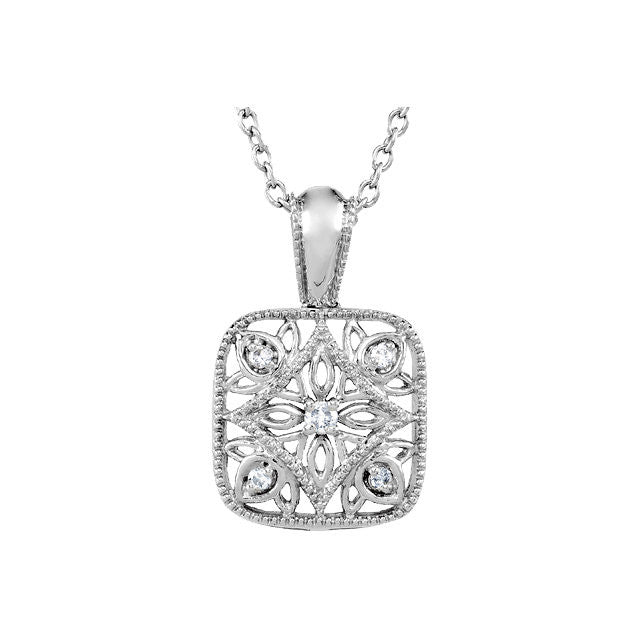 "Necklace > 18"" > Diamond > .05 CTW"