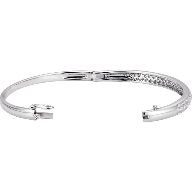 "Bracelet > 7"" > Bangle > Diamond > 1/2 CTW > 1"