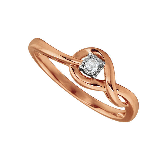 Ring > Promise > Diamond > .04 CTW > Rose-Plated > &
