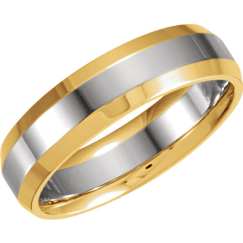 .5 > Band > Comfort-Fit > 6mm > Two-Tone > 14kt