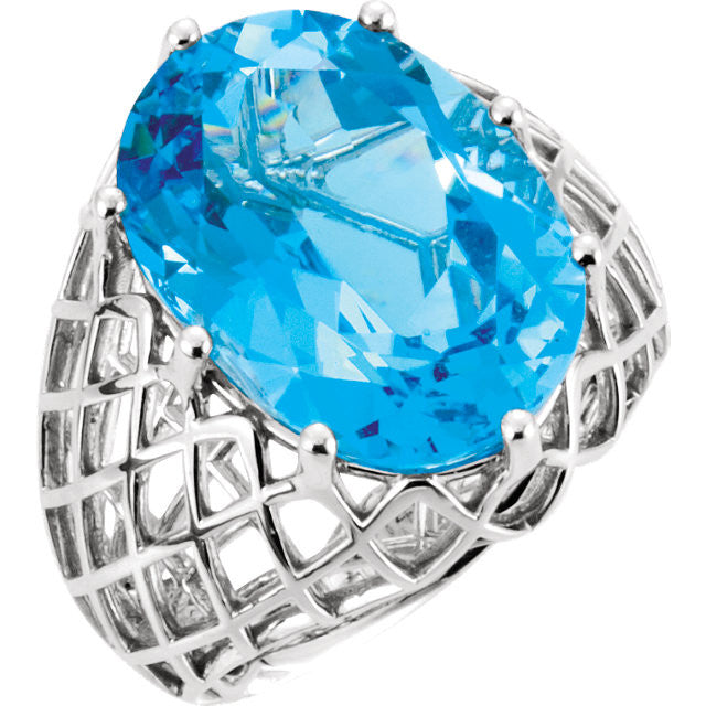Ring > Topaz > Blue > Swiss > Oval > 18x13mm